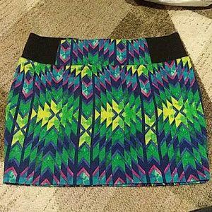 Charlotte Russe Vibrant Skirt XL